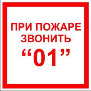 При пожаре звонить 01