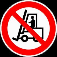 Запрещается движение напольного транспорта