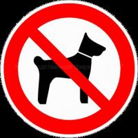 Запрещается вход (проход) с животными