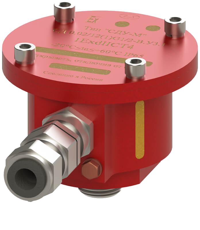 """Сигнализатор давления универсальный (СД 0,02/12(1)G1/2-В.У3.1- """"СДУ-М"""") с маркировкой взрывозащиты 1ЕxdIIСT4 с кабельным вводом"""