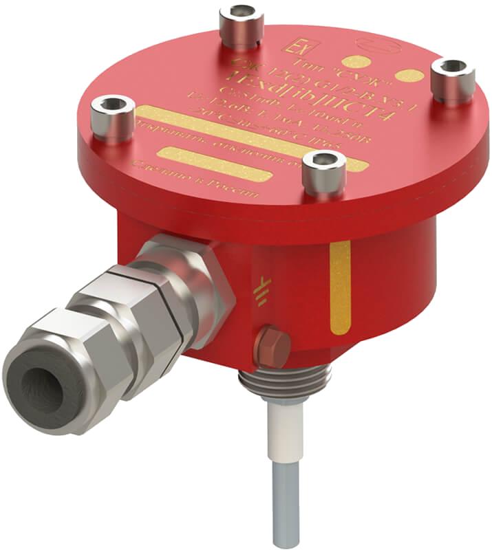 Сигнализатор уровня жидкости с маркировкой взрывозащиты 1Exd[ib]IIСT4 с кабельным вводом