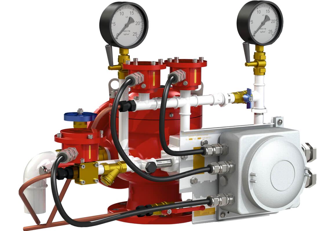 Узел управления с комбинированным приводом взрывозащищенный УУ-Д100 /1,6(Р,Э220,Г0,07)-ВФ.У3.1