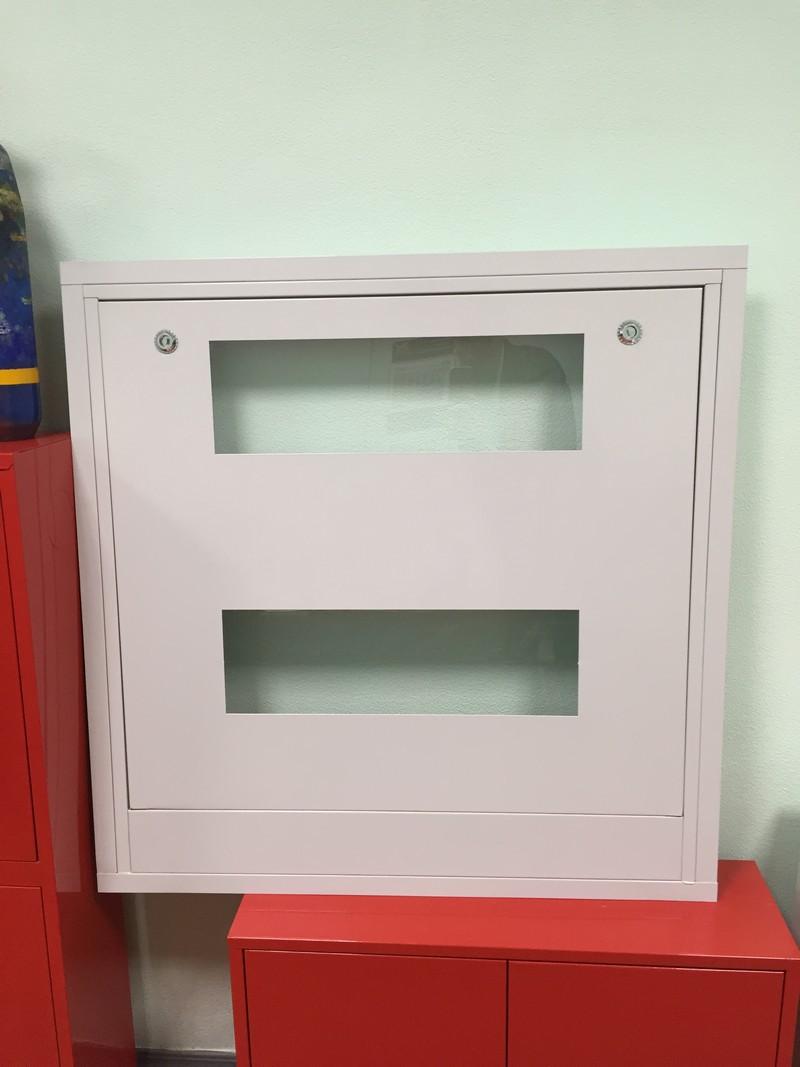 Шкаф пожарный со стеклом, белый